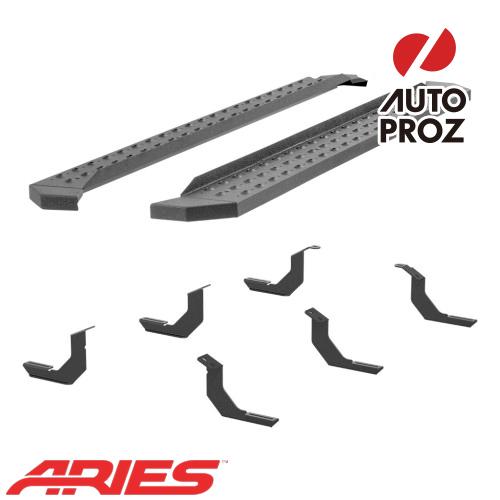 [USアリーズ 直輸入正規品] Aries トヨタ タンドラ ダブルキャブ/クルーマックス 6.5インチサイドステップ ブラック