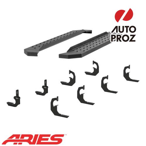 [USアリーズ 直輸入正規品] Aries シボレー/GMC シルバラード/シエラ 2500/3500 レギュラーキャブ、ディーゼル車 6.5インチサイドステップ ブラック