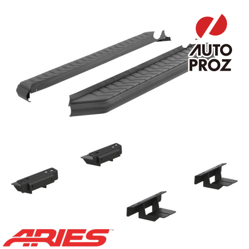 [USアリーズ 直輸入正規品] Aries 日産/ニッサン ムラーノ 5インチランニングボード ブラック