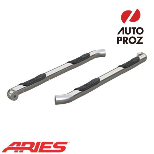 [USアリーズ 直輸入正規品] Aries 日産/ニッサン タイタン XD 3インチラウンドサイドバー ステンレス製