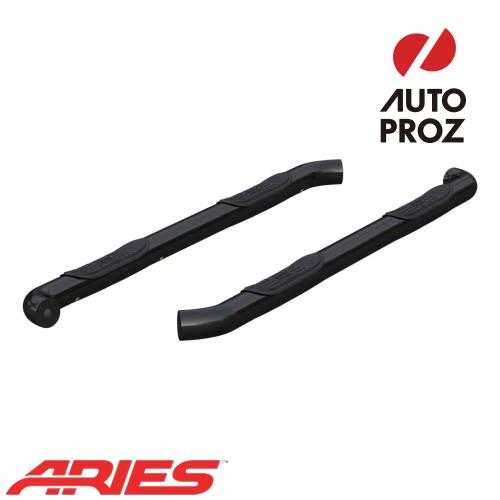 [USアリーズ 直輸入正規品] Aries 日産/ニッサン タイタン XD 3インチラウンドサイドバー ブラック