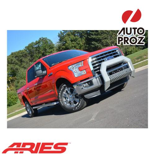 グリルガード ブルバー フロントグリル サイドステップ USアリーズ 出群 直輸入正規品 Aries F450 フォード 5.5インチブルバー F250 F550 F350 訳あり シルバー