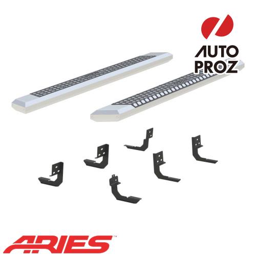 [USアリーズ 直輸入正規品] Aries ダッジ ラム1500 クワッドキャブ 5.5インチサイドステップ シルバー