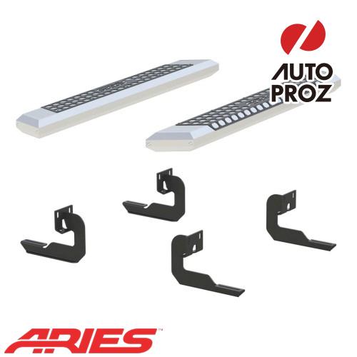 [USアリーズ 直輸入正規品] Aries フォード F150 レギュラーキャブ、ガソリン車のみ 5.5インチサイドステップ シルバー
