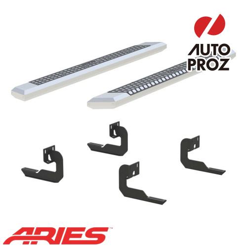 [USアリーズ 直輸入正規品] Aries フォード F150 スーパーキャブ、ガソリン車のみ 5.5インチサイドステップ シルバー