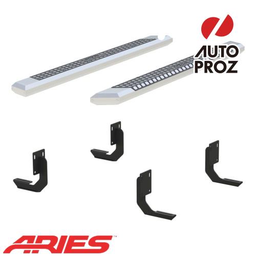[USアリーズ 直輸入正規品] Aries フォード F250/F350/F450 スーパーキャブ 5.5インチサイドステップ シルバー