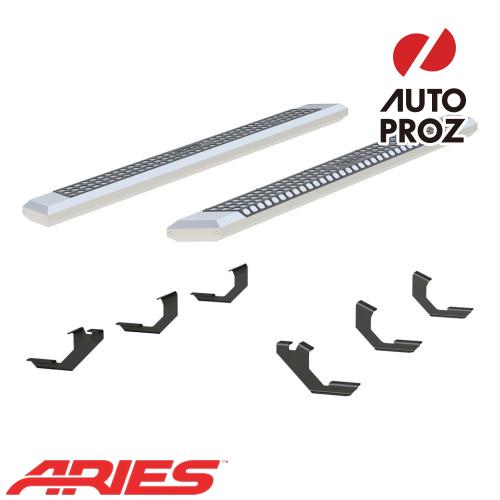 [USアリーズ 直輸入正規品] Aries トヨタ タコマ クルーキャブ 5.5インチサイドステップ シルバー