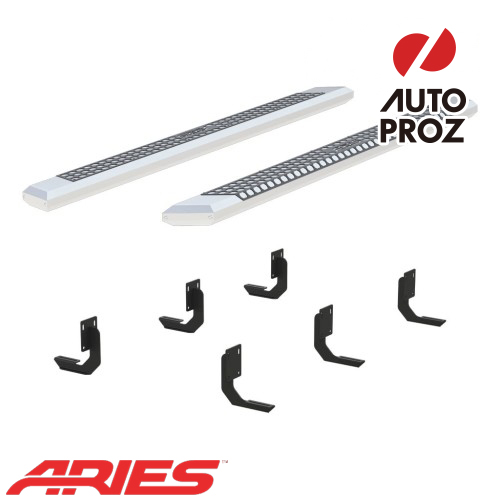 [USアリーズ 直輸入正規品] Aries フォード F250/F350/F450/F550 クルーキャブ 5.5インチサイドステップ シルバー