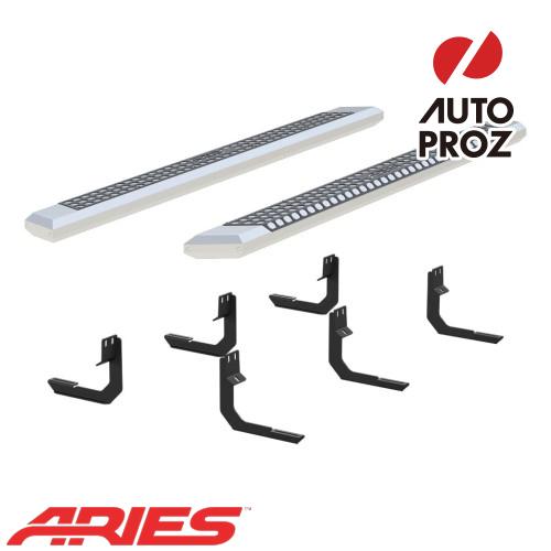 [USアリーズ 直輸入正規品] Aries 日産/ニッサン タイタン XD クルーキャブ 2004年式以降現行 5.5インチサイドステップ シルバー