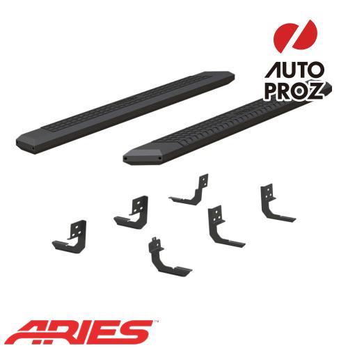 [USアリーズ 直輸入正規品] Aries ダッジ ラム1500 クワッドキャブ 5.5インチサイドステップ ブラック