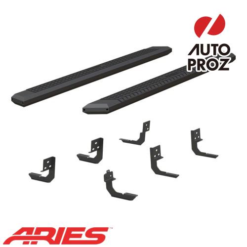 [USアリーズ 直輸入正規品] Aries ダッジ ラム1500/ラム2500/3500 クルーキャブ 5.5インチサイドステップ ブラック