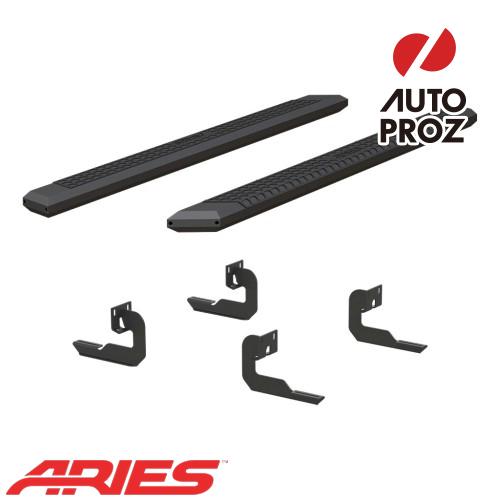 [USアリーズ 直輸入正規品] Aries フォード F150 スーパークルー、ガソリン車のみ 5.5インチサイドステップ ブラック