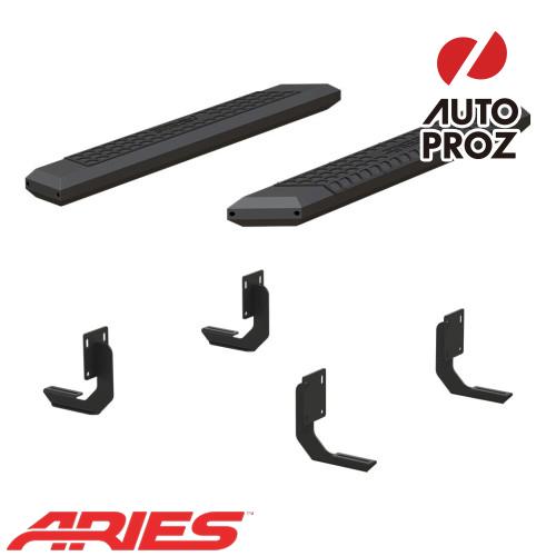 [USアリーズ 直輸入正規品] Aries フォード F250/F350/F450 レギュラーキャブ 5.5インチサイドステップ ブラック