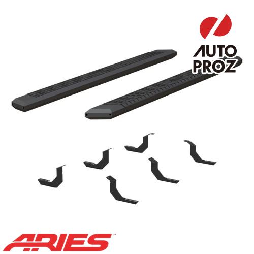 [USアリーズ 直輸入正規品] Aries トヨタ タンドラ ダブルキャブ/クルーマックス 5.5インチサイドステップ ブラック