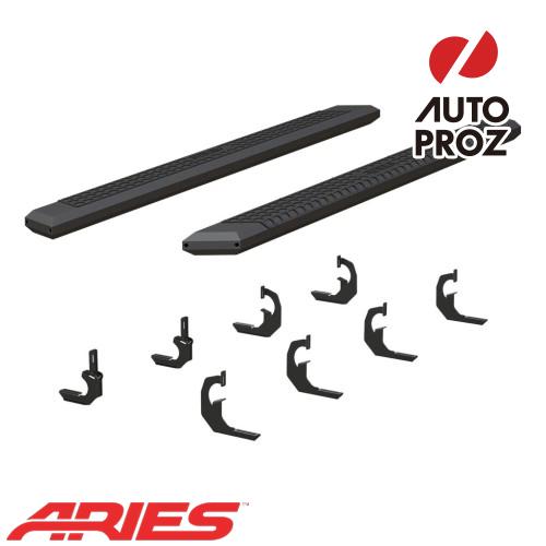 [USアリーズ 直輸入正規品] Aries シボレー/GMC シルバラード/シエラ 2500/3500 クルーキャブ、ディーゼル 5.5インチサイドステップ ブラック