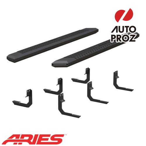 [USアリーズ 直輸入正規品] Aries 日産/ニッサン タイタン キングキャブ 5.5インチサイドステップ ブラック