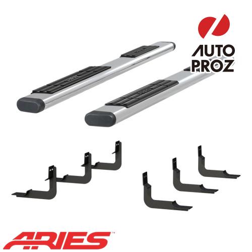 [USアリーズ 直輸入正規品] Aries 日産/ニッサン タイタン XD 6インチオーバルサイドバー ステンレス製