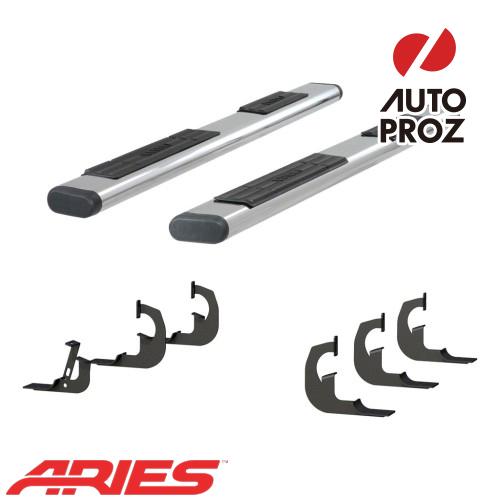 [USアリーズ 直輸入正規品] Aries シボレー/GMC シルバラード/シエラ 2500/3500 クルーキャブ 6インチオーバルサイドバー ステンレス製