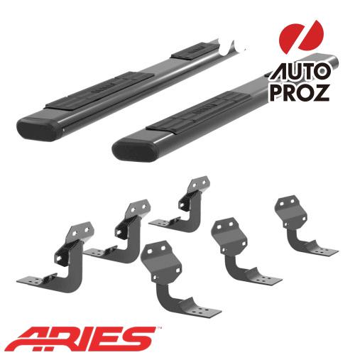 [USアリーズ 直輸入正規品] Aries フォード F150 スーパーキャブ 6インチオーバルサイドバー アルミ製