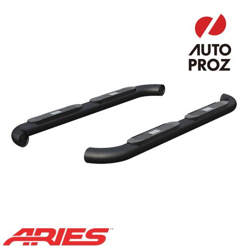 [USアリーズ 直輸入正規品] Aries ダッジ ラム 1500/2500/3500 クワッドキャブ 4インチラウンドサイドバー アルミ製