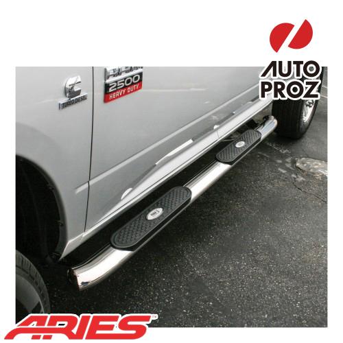 [USアリーズ 直輸入正規品] Aries ダッジ ラム 1500/2500/3500 クルーキャブ 4インチオーバルサイドバー ステンレス製