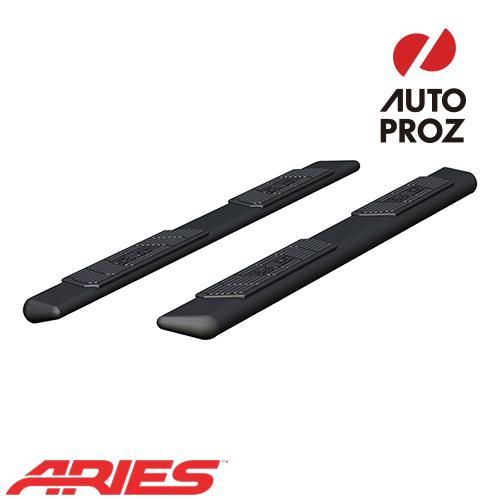 [ARIES 正規品] 日産 タイタン クルーキャブ 2004年以降現行 5.5インチ ランニングボード ブラックパウダーコート