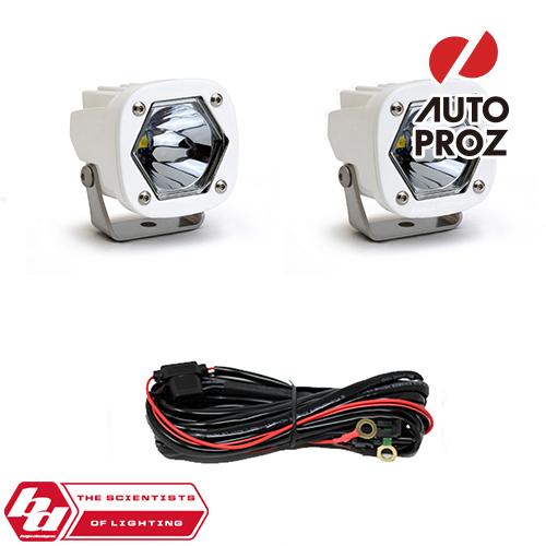 [BajaDesigns 正規品] S1シリーズ LED スポットライト 2個 ※本体カラー:ホワイト