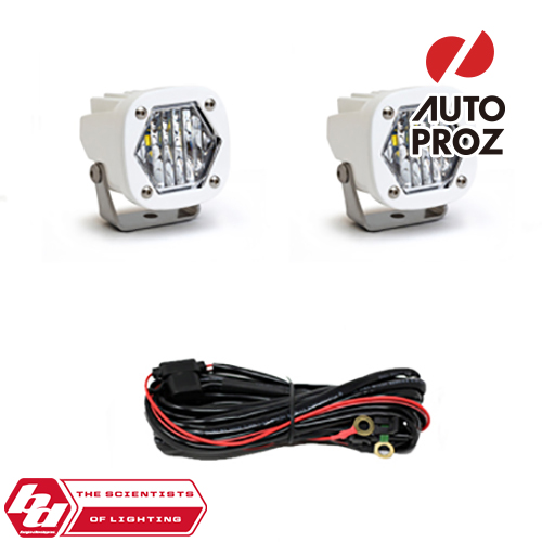 [BajaDesigns 正規品] S1シリーズ LED ワイドコーナリングライト 2個 ※本体カラー:ホワイト