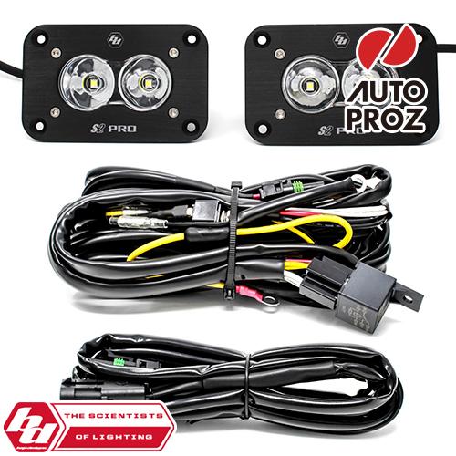[BajaDesigns 正規品] S2 Proシリーズ LED シーンライト 2個 ※フラッシュマウントバックアップキット