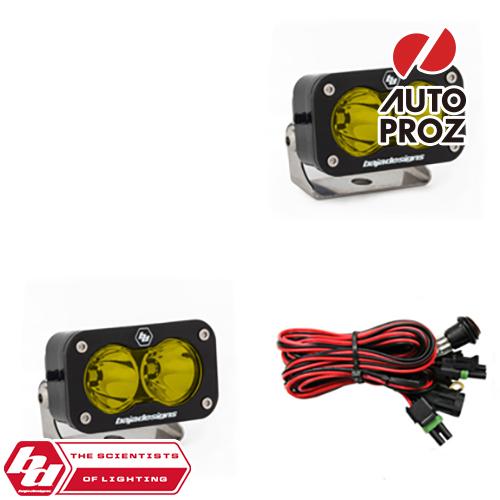 [BajaDesigns 正規品] S2 Proシリーズ LED スポットライト アンバー 2個
