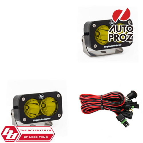 [BajaDesigns 正規品] S2 Proシリーズ LED シーンライト アンバー 2個