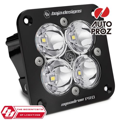 [BajaDesigns 正規品] Squadron Proシリーズ LED シーンライト ※フラッシュマウント・本体カラー:ブラック