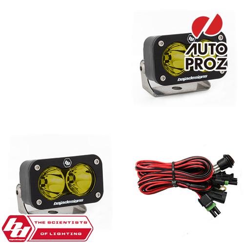 [BajaDesigns 正規品] S2 Sportシリーズ LED スポットライト アンバー 2個
