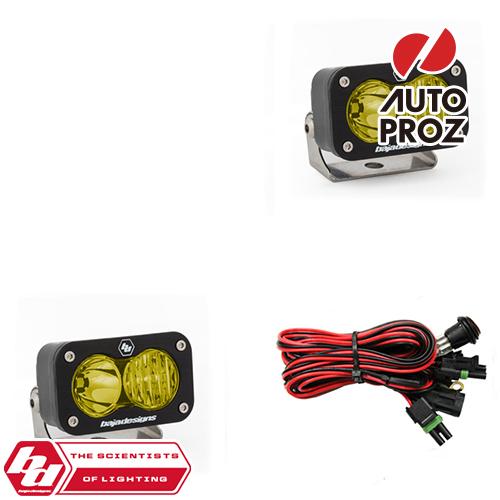 [BajaDesigns 正規品] S2 Sportシリーズ LED スポットライト ドライビングコンボライト アンバー 2個