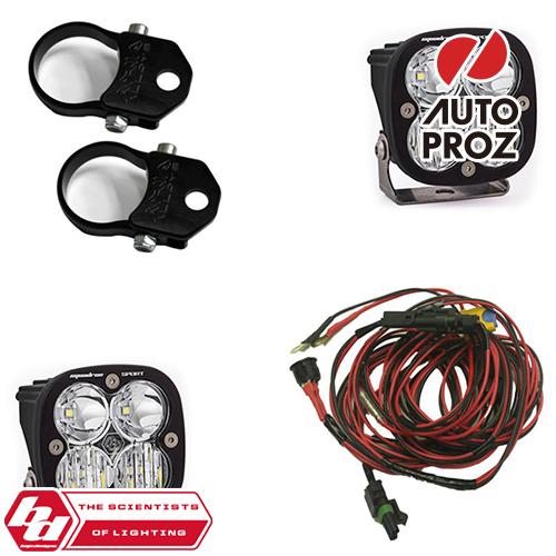 [BajaDesigns 正規品] UTV用 Squadron Sportシリーズ LED ドライビングコンボライト 2個 ※2インチバーティカルマウント付