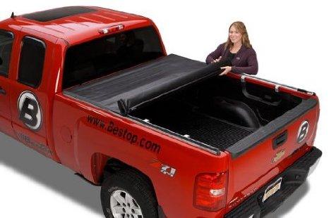 【US直輸入正規品】BESTOP (べストップ)EZ Roll Soft Roll Up トノカバーChevy シボレー Silverado シルバラードGMC Sierra シエラエクステンドキャブ 2008-2013年※8フィート用※ブラック