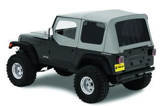 【US直輸入正規品】BESTOP (べストップ)Replace-A-Top(リプレイスアトップ)ティンテッドウィンドウ付Jeep Wrangler(ジープ ラングラー)1988-1995年(ドアスキン付)※チャコールグレー