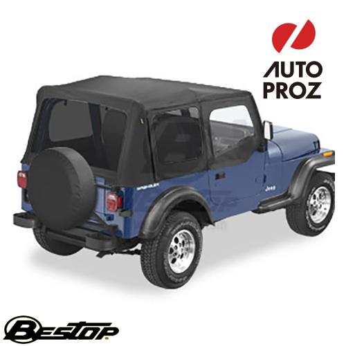 【US直輸入正規品】BESTOP (べストップ)Replace-A-Top(リプレイスアトップ)ティンテッドウィンドウ付Jeep Wrangler(ジープ ラングラー)1988-1995年(ドアスキン付)※ブラック