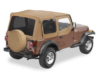 【US直輸入正規品】BESTOP (べストップ)Replace-A-Top(リプレイスアトップ)ティンテッドウィンドウ付Jeep Wrangler(ジープ ラングラー)1988-1995年(ドアスキン付)※スパイスカラー