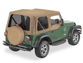 【US直輸入正規品】BESTOP (べストップ)Replace-A-Top(リプレイスアトップ)ティンテッドウィンドウ付Jeep Wrangler(ジープ ラングラー)1997-2002年(ドアスキン付)※スパイスカラー