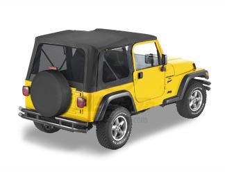 【US直輸入正規品】BESTOP (べストップ)Replace-A-Top(リプレイスアトップ)ティンテッドウィンドウ付Jeep Wrangler(ジープ ラングラー)1997-2002年(ドアなし)※ブラック
