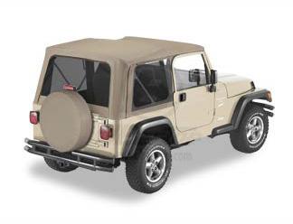 【US直輸入正規品】BESTOP (べストップ)Replace-A-Top(リプレイスアトップ)ティンテッドウィンドウ付Jeep Wrangler(ジープ ラングラー)1997-2002年(ドアなし)※ダークタンベージュ