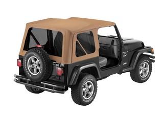 【US直輸入正規品】BESTOP (べストップ)Replace-A-Top(リプレイスアトップ)ティンテッドウィンドウ付Jeep Wrangler(ジープ ラングラー)1997-2002年(ドアなし)※スパイスカラー