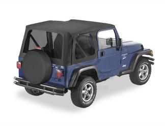 【US直輸入正規品】BESTOP (べストップ)Replace-A-Top(リプレイスアトップ)ティンテッドウィンドウ付Jeep Wrangler(ジープ ラングラー)2003-2006年(ドアなし)※ブラック