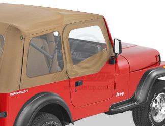 【US直輸入正規品】BESTOP (べストップ)ソフトアッパードア(スーパートップ用)Jeep Wrangler(ジープ ラングラー)1988-1995年(スチールハーフドア)※スパイスカラー