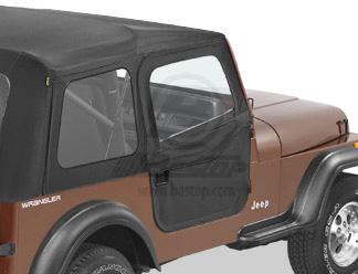 【US直輸入正規品】BESTOP (べストップ)2ピースドア(スーパートップ サンライダー用)Jeep Wrangler(ジープ ラングラー) CJ-7 1980-1995年※ブラックデニム