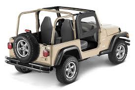 【US直輸入正規品】BESTOP (べストップ)ソフトアッパードア(スチールハーフドア付ソフトトップ用)Jeep Wrangler(ジープ ラングラー)1997-2006年※ブラックデニム