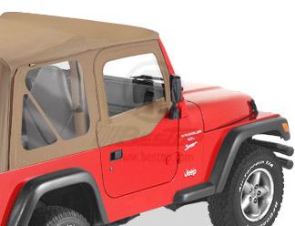 【US直輸入正規品】BESTOP (べストップ)ソフトアッパードア(スチールハーフドア付ソフトトップ用)Jeep Wrangler(ジープ ラングラー)1997-2006年※スパイスカラー