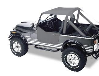 【US直輸入正規品】BESTOP (べストップ)Bikini Tops(ビキニトップ)トラディショナルタイプJeep(ジープ)CJ-7 CJ-8 Wrangler(ラングラー) 1976-1991年※ウィンドシェルドチャネル付車両※チャコールグレー