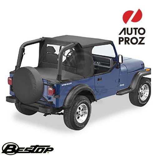 【US直輸入正規品】BESTOP (べストップ)Halftop(ハーフトップ)Jeep(ジープ)Wrangler(ラングラー) 1992-1995年※ブラックデニム
